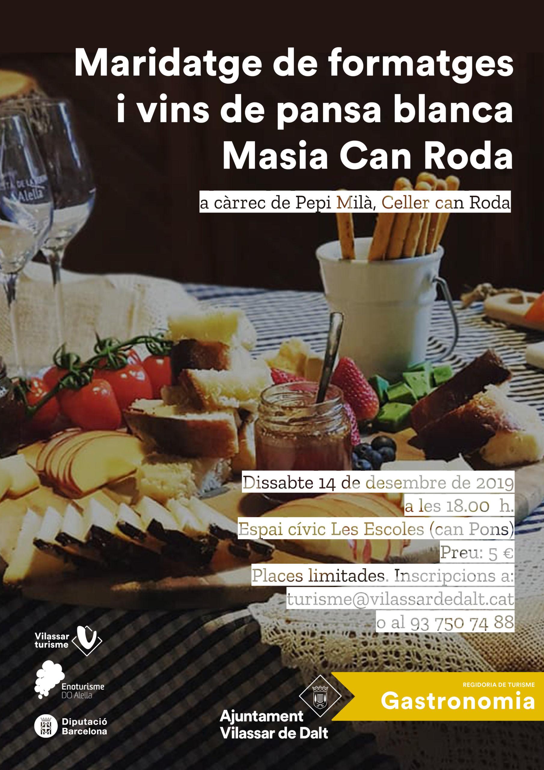 Maridatges de vins i formatges - Can Roda