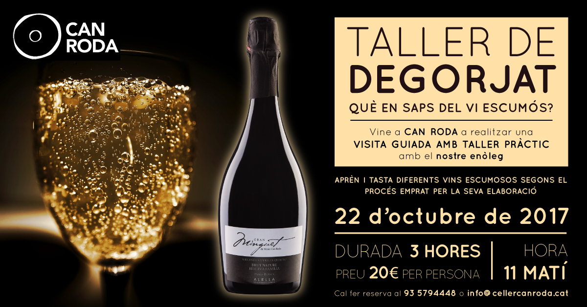 Taller desgorjat - Celler Can Roda