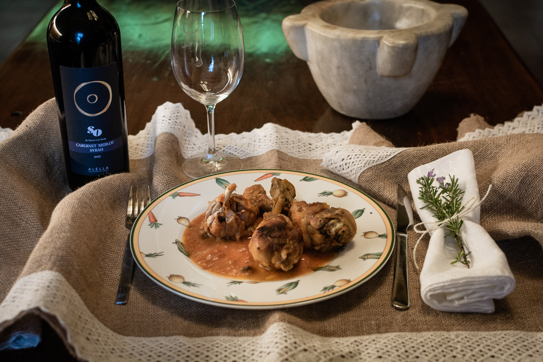 recepta rostit pollastre amb vi negre celler can roda